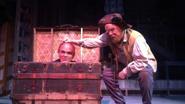 "Actor Ray McFarland reprises his Big Harp role in ""The Robber Bridegroom"" at New Stage Theatre. Video by Sherry Lucas."