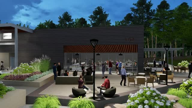 Animation shows the new Brandon amphitheater that opened this year.