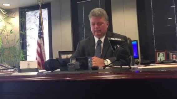 Mississippi Attorney General Jim Hood announces his office's lawsuit against Google in 2017.