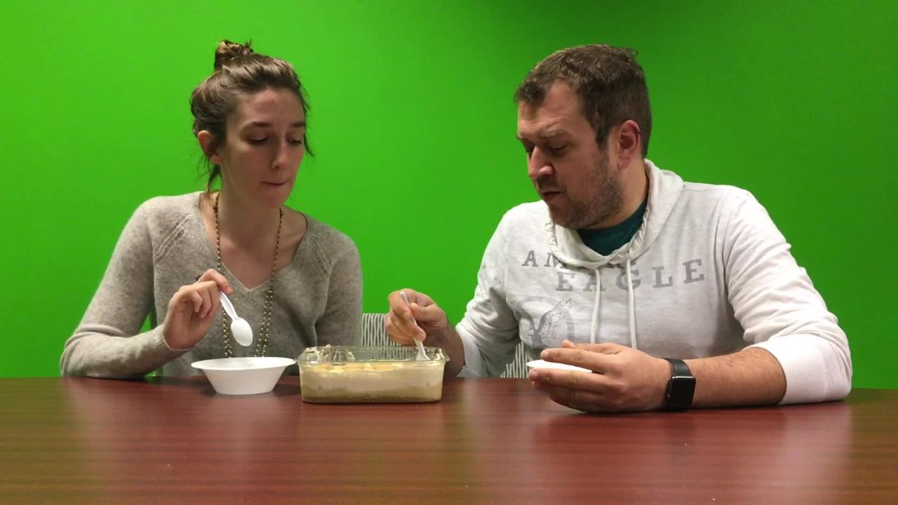 Katie & Dustin Try: Patti LaBelle's Banana Pudding