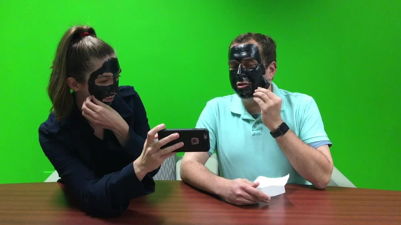 Does this charcoal face mask hurt? Katie and Dustin have an opinion...