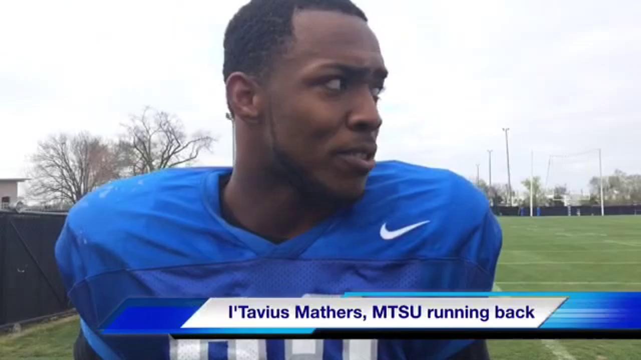 MTSU running back I'Tavius Mathers