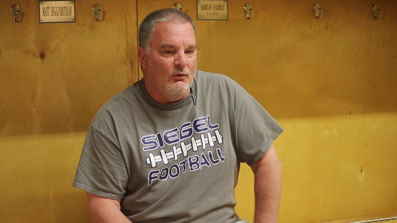Travis Weber Courage Award Winner : Siegel High School Football