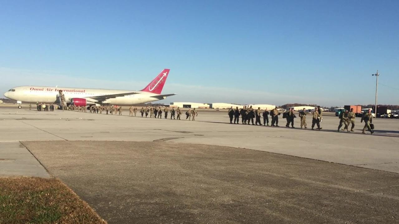 167 soldiers from the 101st Airborne division return home just in time for Holidays.