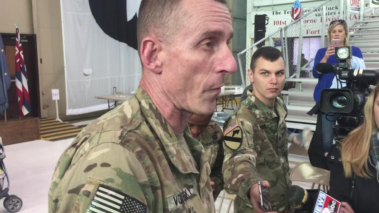 Maj. Gen. Gary J. Volesky speaks about the achievements and efforts of his Screaming Eagles.