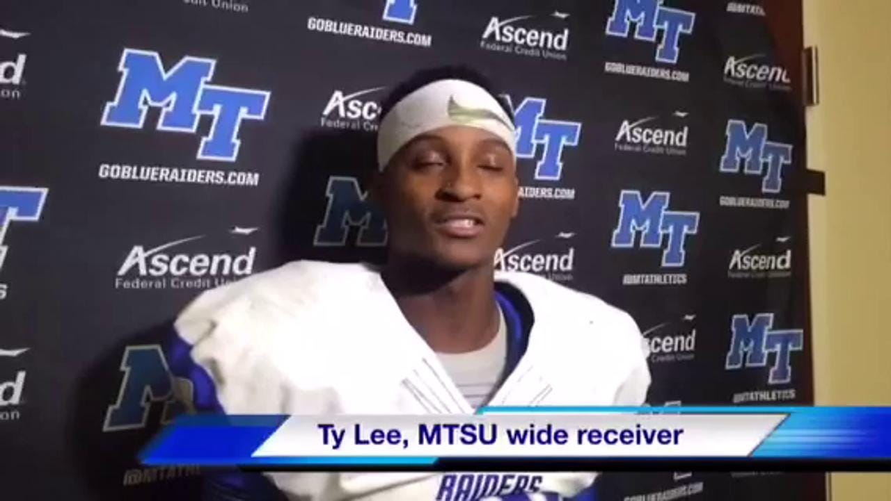 MTSU wide receiver Ty Lee postgame at Charlotte