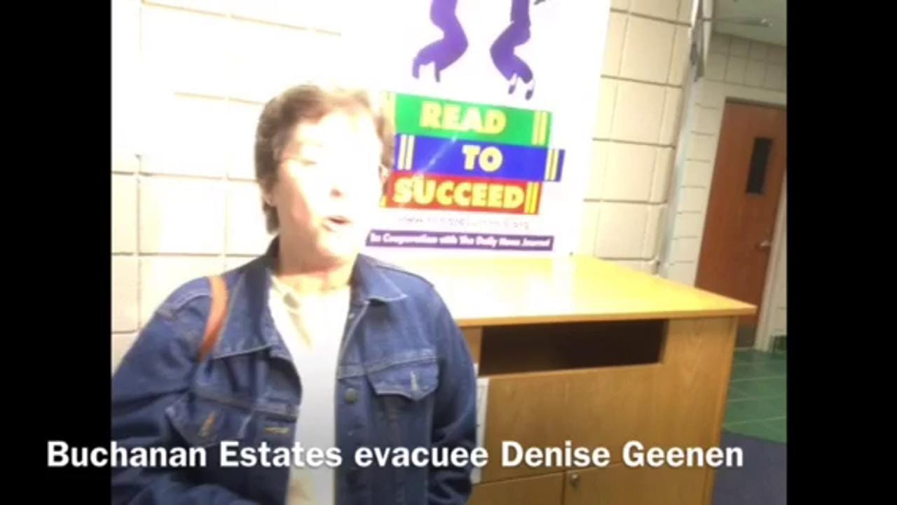 Evacuee Denise Geenen
