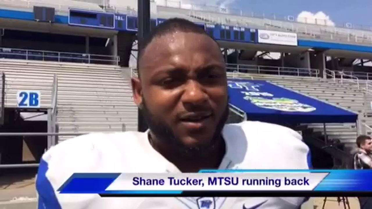 VIDEO: MTSU running back Shane Tucker on gaining weight