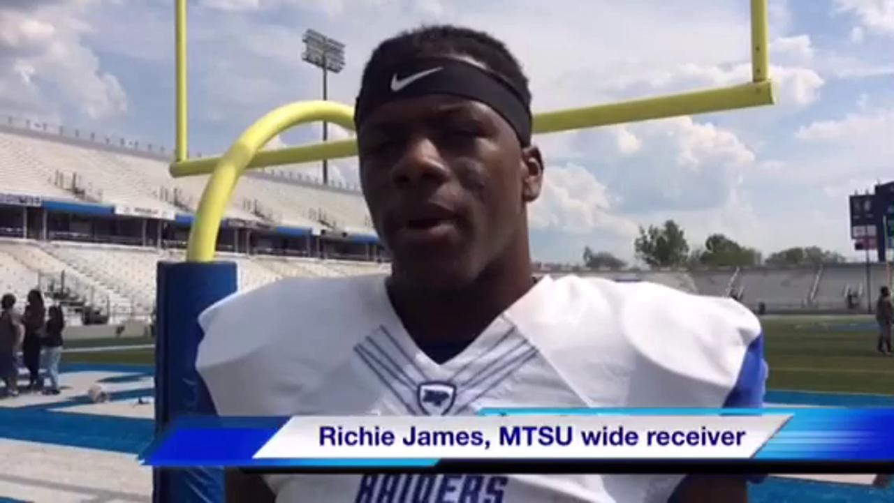 VIDEO: MTSU wide receiver Richie James
