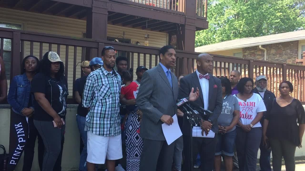 Press conference with Jalen Milan's family