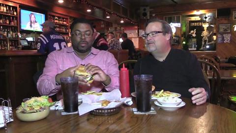 John Carlson and Lathay Pegues film their final episode of Chow Hound!