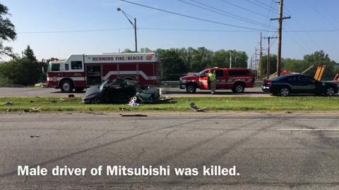 VIDEO: Driver dies in U S  40 accident