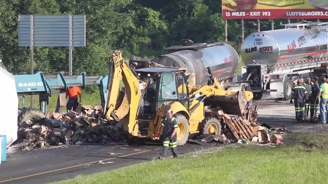Crews clear debris from I-65 fatal crash