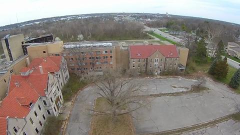 Doug Philbeck shot this video of the old Reid Hospital campus on Chester Boulevard using a drone.