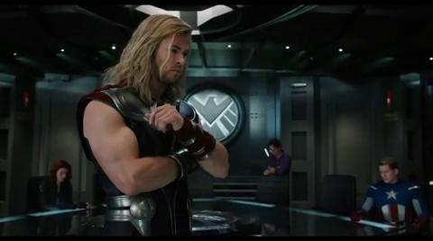Iron Man (Robert Downey Jr.) Captain America (Chris Evans) and Thor (Chris Hemsworth) form a superhero dream team.