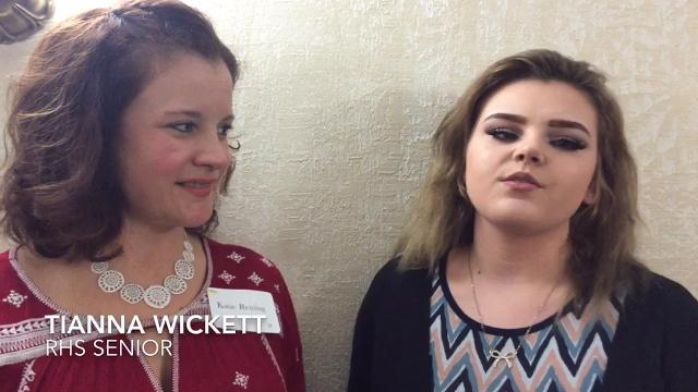 Teacher Katie Reising and senior Tianna Wickett talk about how the Richmond High School class helps teens grow into women and how the grant will help the class.  The Women's Fund gave $30,500 in grants March 4.