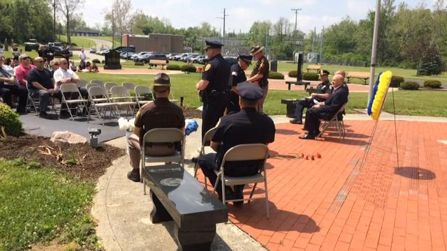Wayne County law enforcement agencies honored past offices Friday, May 19, 2017, with the annual Peace Officers Memorial Service at Veterans Memorial park.
