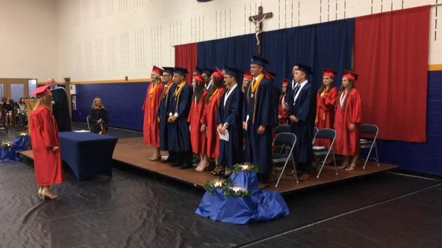 Twenty-one seniors were graduated June 4, 2017, as the 12th graduating class for Seton Catholic High School.