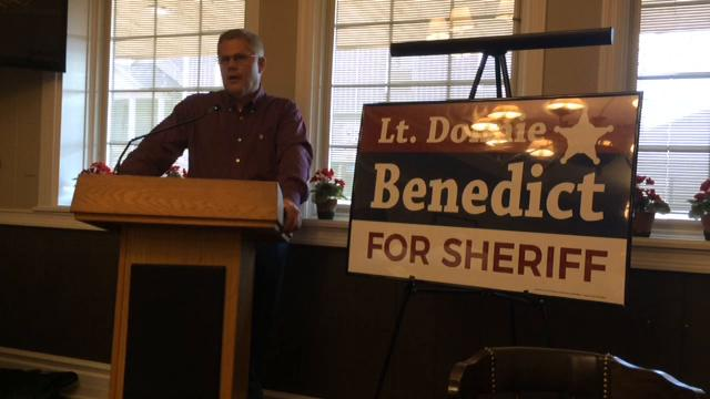 RPD Lt. Donnie Benedict announced his Republican candidacy for sheriff Friday and explained some of his vision for the office.
