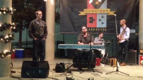 "Courtney Granger of the Pine Leaf Boys sings ""Silent Night"" at a special Downtown Alive! on Wednesday, Nov. 26, 2014. Video by Dominick Cross"