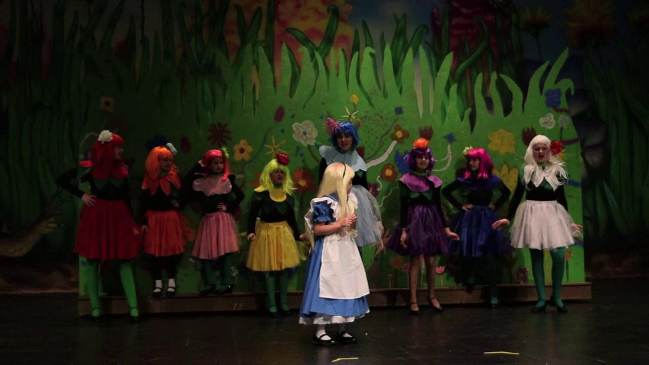 "Scenes from Alexandria Country Day School and Lagniappe Theatre's ""Disney's Alice in Wonderland Jr."""