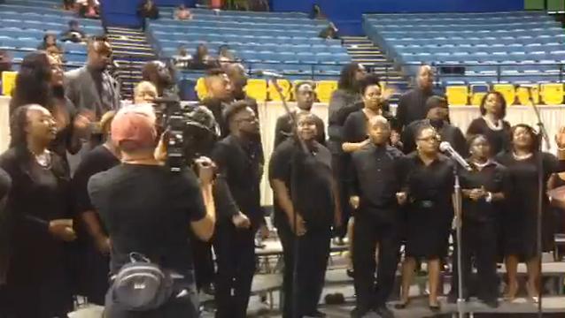 Watch: Choir sings at Alton Sterling funeral