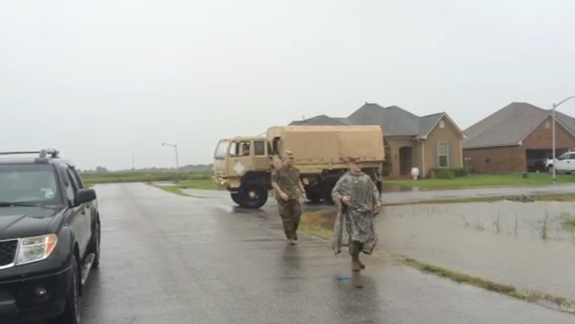 WATCH: National Guard responds to flooding in Youngsville