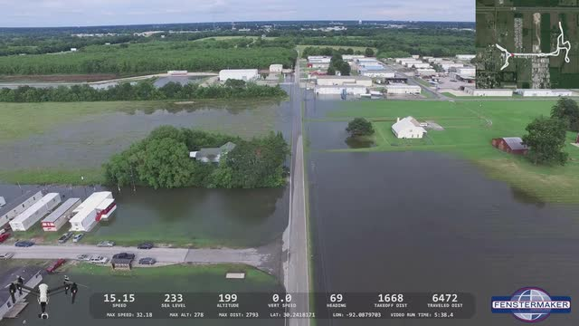 DRONE FLOODING VIDEO: Willow & Mills