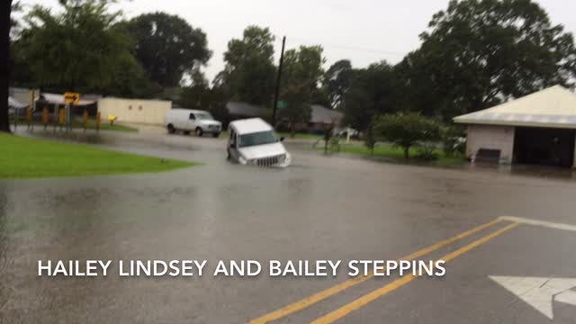 WATCH: Flooded vehicle in Lafayette