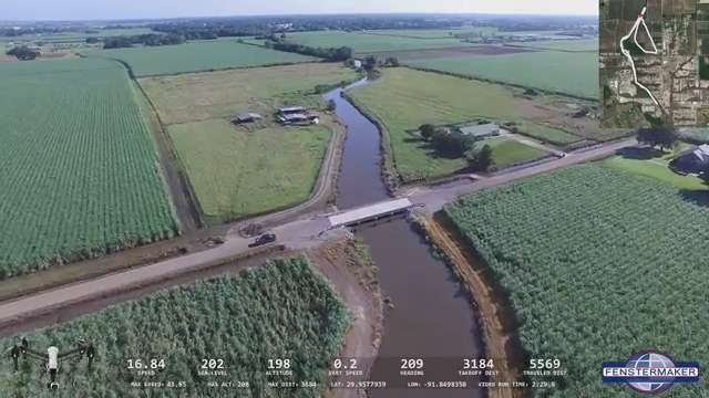 DRONE FLOODING VIDEO: Par Road, New Iberia