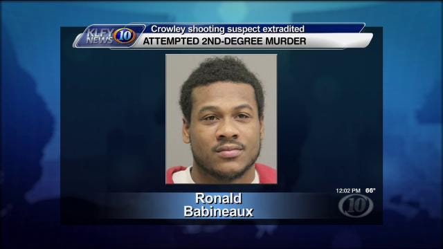WATCH: Suspect in Crowley shooting extradited
