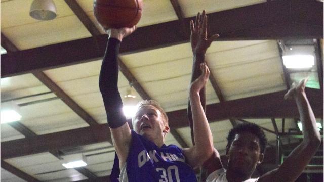The Grace Christian boys' basketball team took on Oak Hill Friday, Feb. 10, 2017.