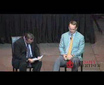 Peyton Manning talks to Acadiana athletes