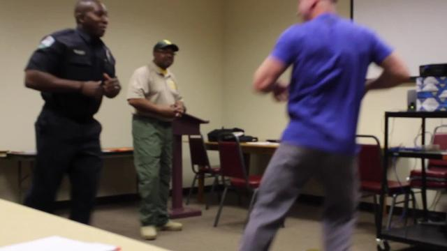 De-escalation skills for law enforcement officers are a hot topic, but such training has been available in Rapides Parish for the past few years. Called Crisis Intervention Training, officers take a 40-hour course to learn how to handle those in mental-health crises and in other situations. As their final exercise, officers undergo role-playing exercises with trainers who don't hold back.