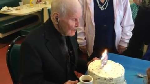 Carl Ladensack, a World War II veteran and a Port Huron resident, celebrated his 99th Wednesday with a surprise party at Tom Manis restaurant.