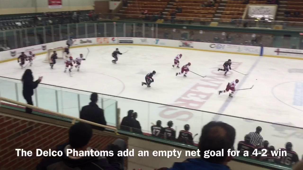 The Port Huron Flags Bantam A team lost to the Delco Phantoms, 4-2, Friday night at McMorran Arena.