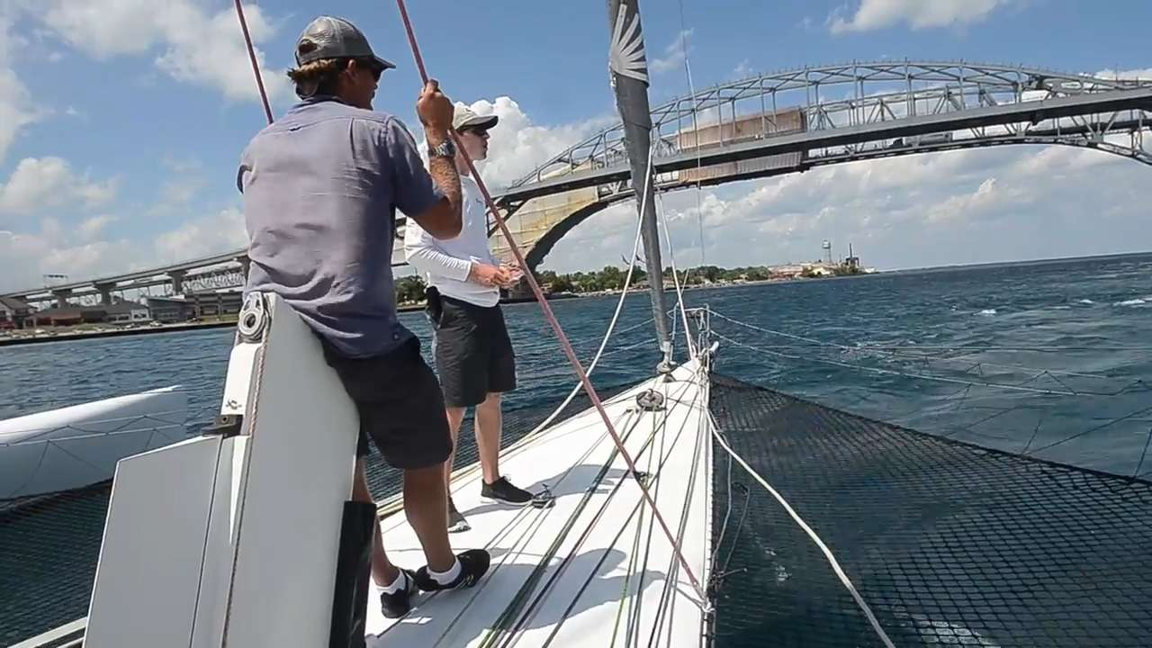 Arete Part 1: The Shakedown. Getting the huge multihull sailboat ready for the the Port Huron-to-Mackinac Island Sailboat Race.