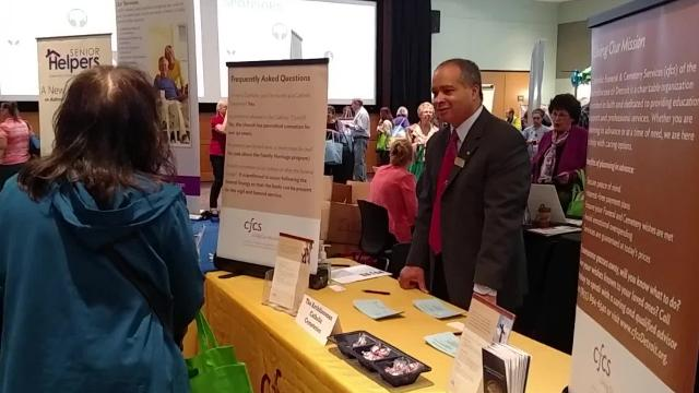 Hundreds attend the 14th annual Spring Senior Expo at Schoolcraft College.