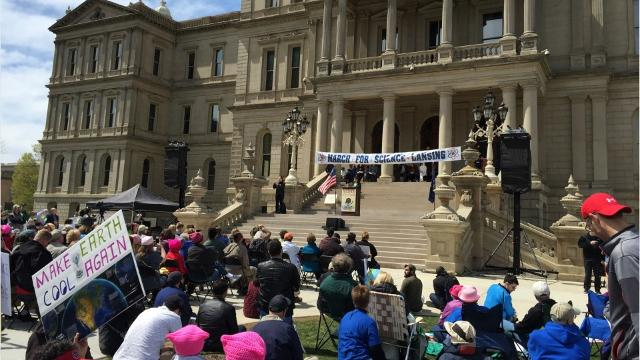 Scenes from Lansing's March for Science