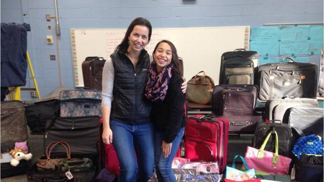 """Skylar Medes, 13, started """"Suitcases for Kids,"""" an outreach aimed at providing local foster kids with luggage and personal items of their own, after witnessing the need first-hand."""