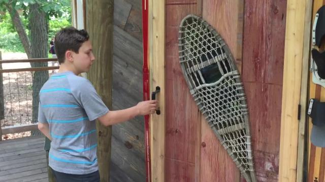 'Kid client' gives tour of tree house featured on TV show
