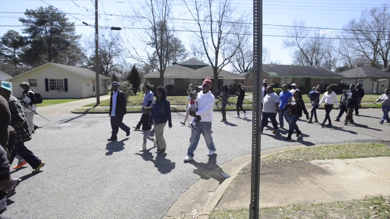 March for Greg Gunn held in neighborhood