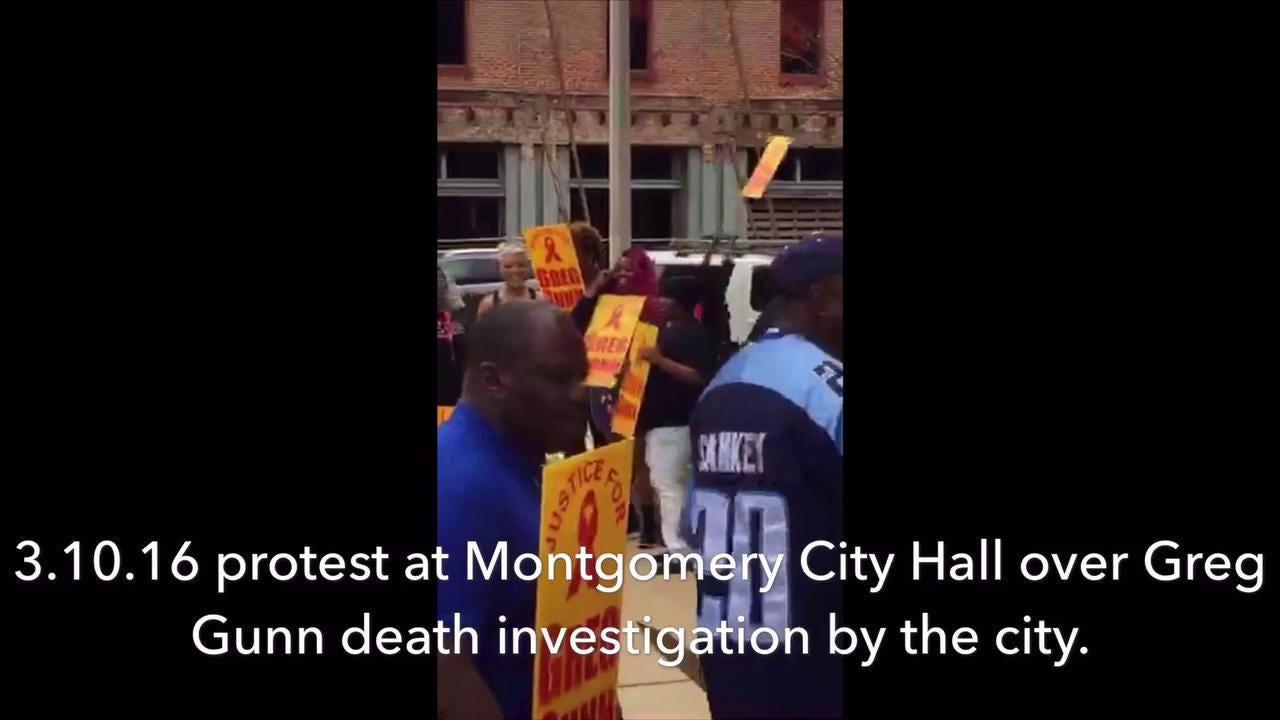 Raw video: Greg Gunn protest