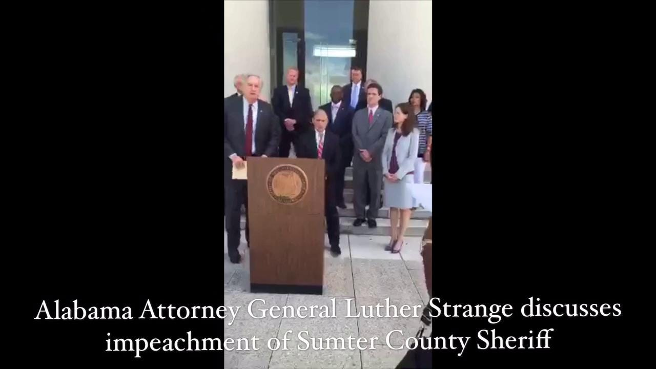 Alabama Attorney General Luther Strange discusses Sumter County Sheriff's  impeachment