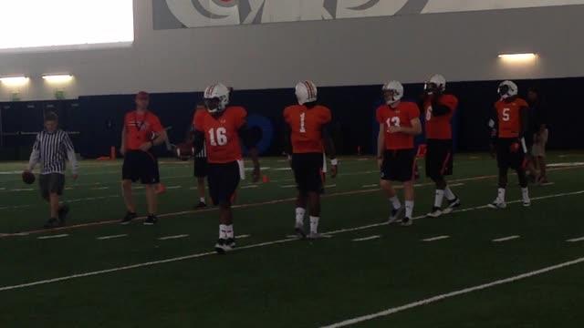 Auburn QBs working with Tigers OC Rhett Lashlee