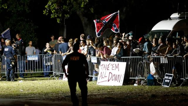 Confederate monument removal met with protests
