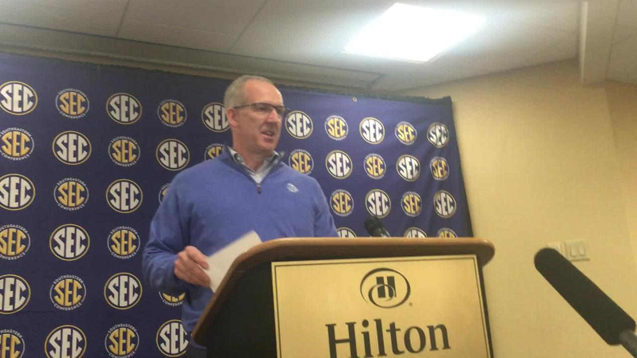 SEC commissioner Greg Sankey from spring meetings Wednesday