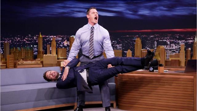 WWE Superstar John Cena Deadlift Jimmy Fallon