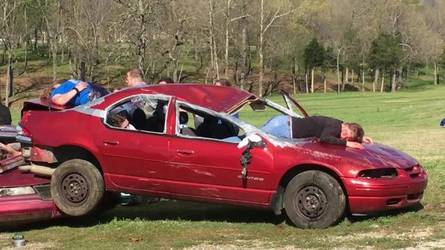 The dangers of distracted and drunken driving were driven home to local high school students with the staging of a fatal traffic crash at The Last Dance 2017.