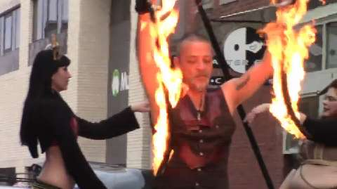 TSP ARCHIVES: Fire artists show their skills at Muncie Gras.